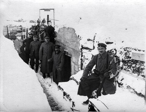 Russland, Winter 1916, im Kampfstollen, Stellung der 2. Komp., Bat. Schweinfurt