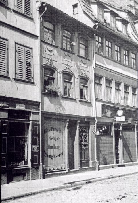 Brückenstraße 6, Glaserei und Zinngießerei Bichmann, Brückenstraße 6