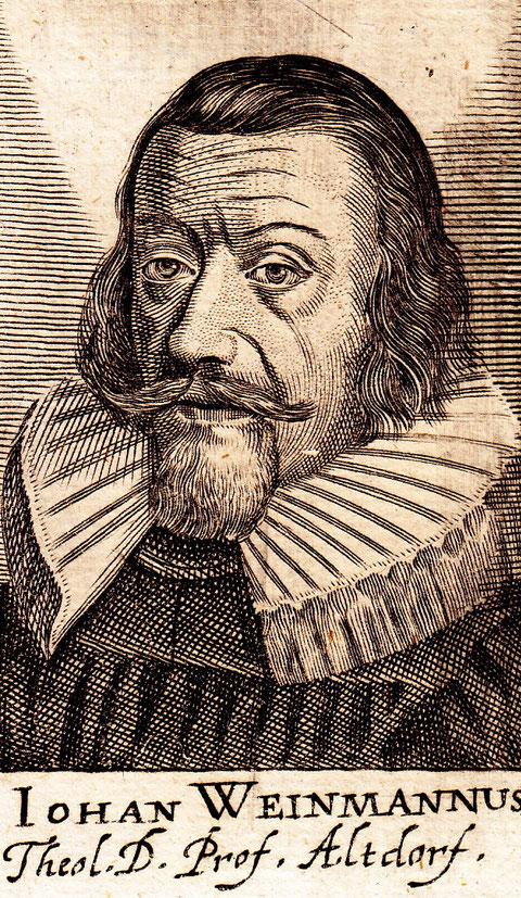 Johannes Weinmann - Kupferstich aus Paul Freher, Theatrum Virorum Eruditione Clarorum. Nürnberg 1688