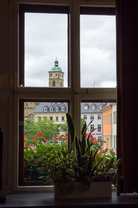 Blick aus Rathausfenster