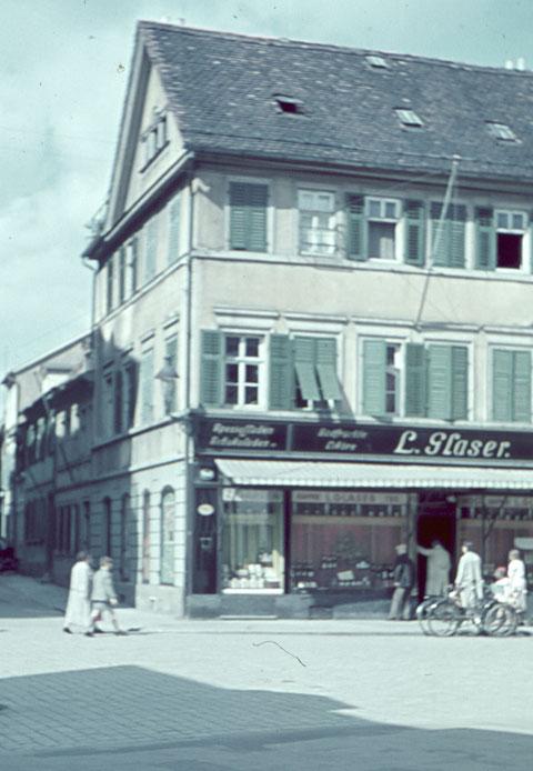 Glaser Delikatessen, Postplatz 8 - 1940 - Danke an Peter Wiegand