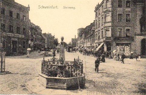 mit Blick in die Schultesstraße um 1910