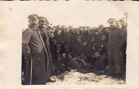"""""""Zur Erinnerung an der Verbrüderung des 2.Korps der bayr. kgl. Infanterie Schweinfurt II B 19 mit den 25 sibirischen Schützen am 8. Dezember 1917"""""""