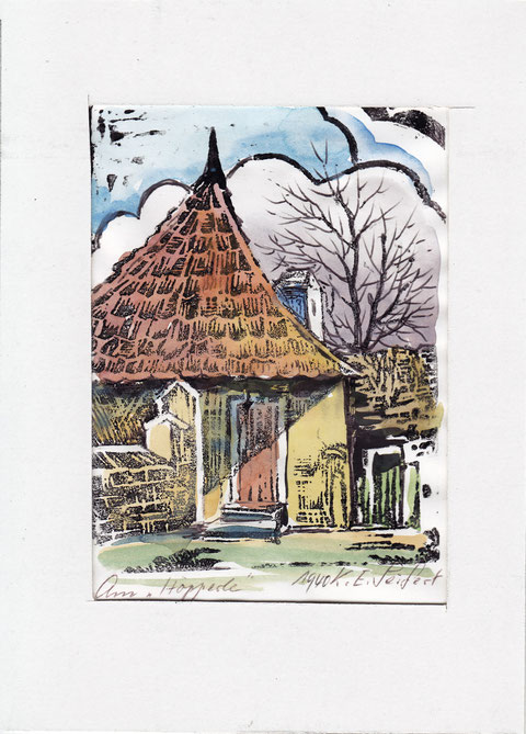 Aquarell vom Höpperle aus dem jahr 1940 - Danke an Herrn Gerhard Roscher