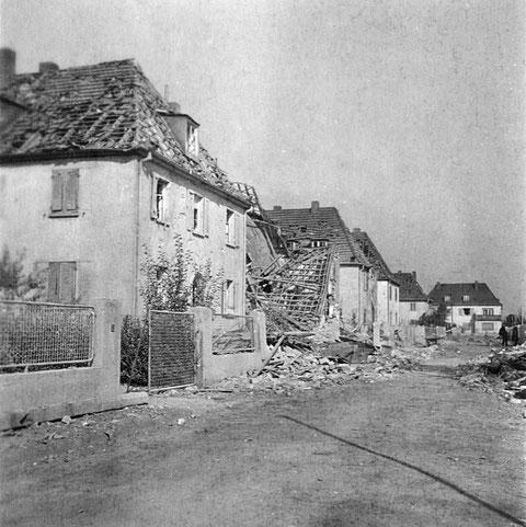 17. August 1943 - Bayernstraße - einst Ludendorffstraße Nr. 5-11 nach Bombenangriff