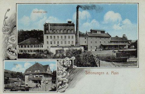 Schonungen um 1905 - Ludwig-Grobe-Mühle