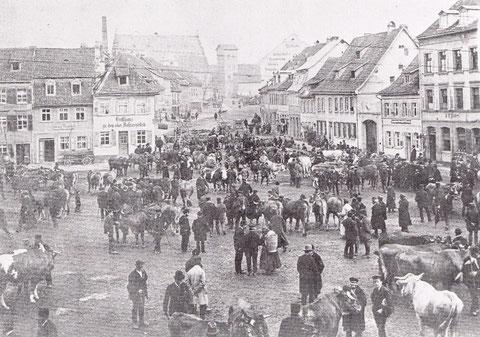 Blick vom Bauschenhaus über den Roßmarkt zum Zeughaus