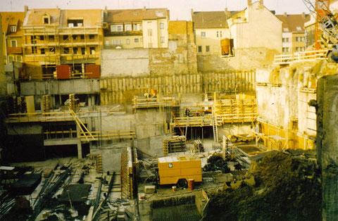 Tiefgarage am Graben wird gebaut