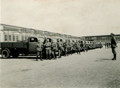In der Schweinfurter Kaserne in den 1940ern