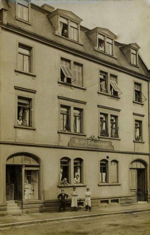 Bäcker Georg Schonunger, Wilhelmstraße 4; Jahr 1910