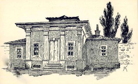 Gartenhaus hinter dem Hirtenturm