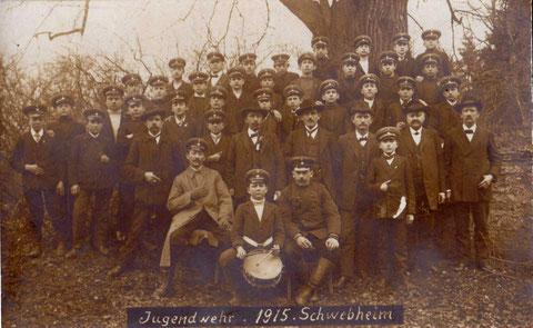 Jugendwehr Schwebheim 1915 - bitte vergrößern