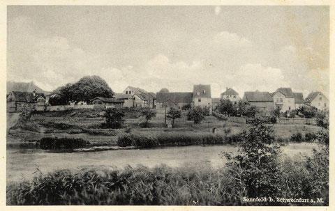 Der Badeplatz am Sennfelder See um 1930