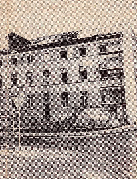 Januar 1971 - das Haus zeigt bereits Abbruchmerkmale Foto: Schweinfurter Tagblatt
