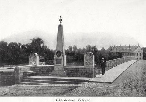 Das Denkmal Theodor Fischers im Jahr 1904