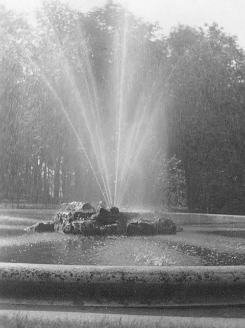 1942 - der Springbrunnen in den Wehranlagen