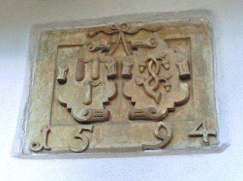 Das Wappen in der Metzgergasse 16