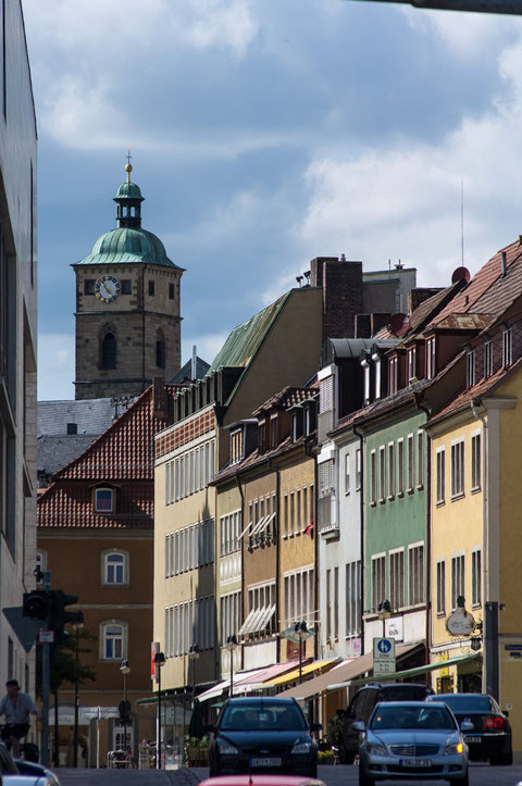 Brückenstraße, Geburtshaus Rückert und St. Johannis