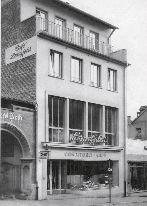 Café Lengfeld, Obere Straße 22, nach dem Wiederaufbau 1953
