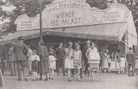 Auf dem Bleichrasen (heute Konferenzzentrum auf der Maininsel) 1930