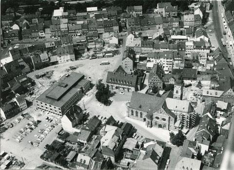 nach dem Neubau des Friedrich-Rückert-Baus ca. 1963/64