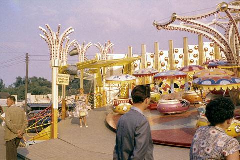 6. Juni 1959 - Schweinfurter Volksfest - das letzte Mal auf dem Bleichrasen (Maininsel) - die Sensation: Calypso