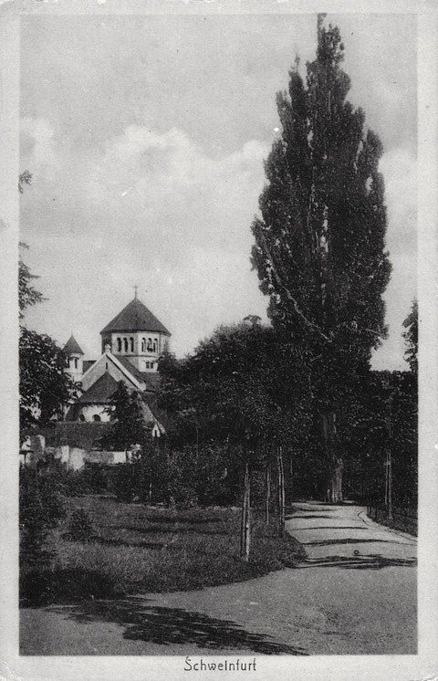 Um 1903 - mit Blick auf Heilig-Geist-Kirche mit noch kurzem Turm