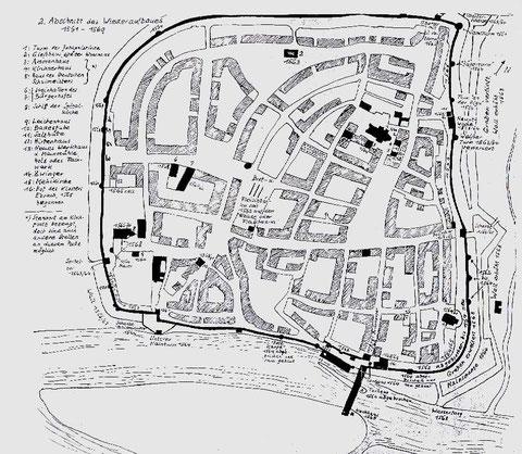 Karte zum Wiederaufbau 1561 - 1569 ........ bitte vergrößern!