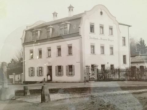 """""""Ausschank der Brauerei Wagner"""" um 1920 - Danke an Frau Wilma Schneider, ehemals Wirtin im grünen Baum (Philosophengang 9)"""