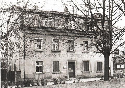 """Die """"Gaststätte Grüner Baum"""" in den 1960ern"""