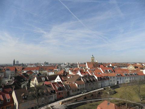 """Blick über Schweinfurt mit """"Oberem Wall"""""""