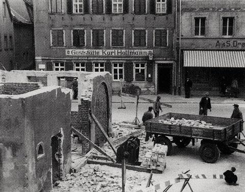 Abbruch des Feuerwehrhauses 1952