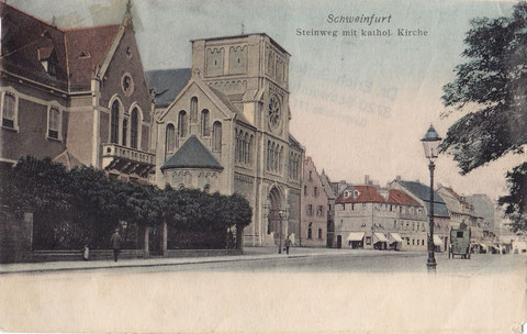 Hl. Geist Kirche vor Vollendung des Turmes ca. 1903