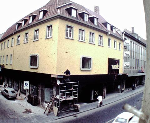 Spitalstraße 1974 Umbau Modehaus Voit-Reichel - Danke an Christel Feyh