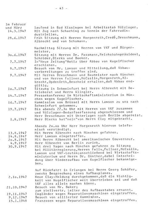 Geschichte der Firma FAG Kugelfischer in der Nachkriegszeit ...