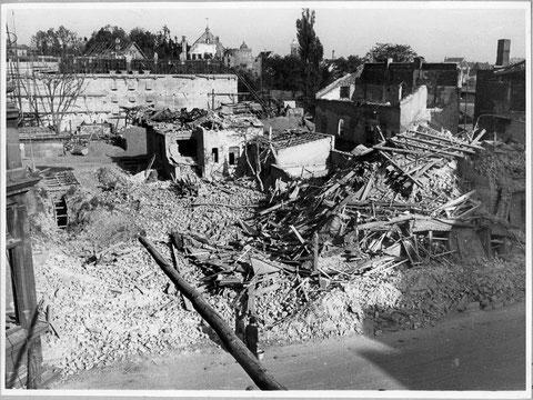 Der Spitalseebunker direkt nach Kriegsende - 1945
