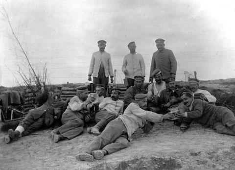 Schweinfurter Bataillon, November 1917, Schützengraben am Serwetsch