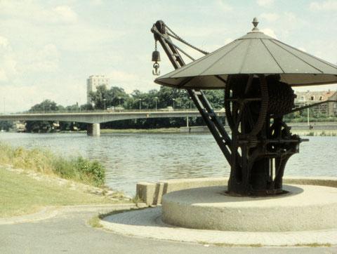 Juni 1966 - alter Kran an der Gutermannpromenade