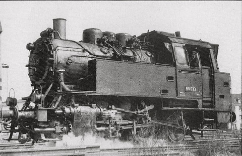 DB-80er Ende in Schweinfurt 1963