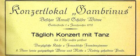 Werbung im Adressbuch 1936