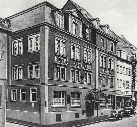 Gasthaus Krone Mitte der 1930er