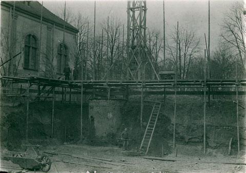 Bau der Filteranlage Alt Wasserwerk 1927
