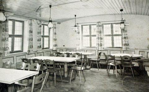Innenraum der Weinstube Kohl - Anfang der 1950er