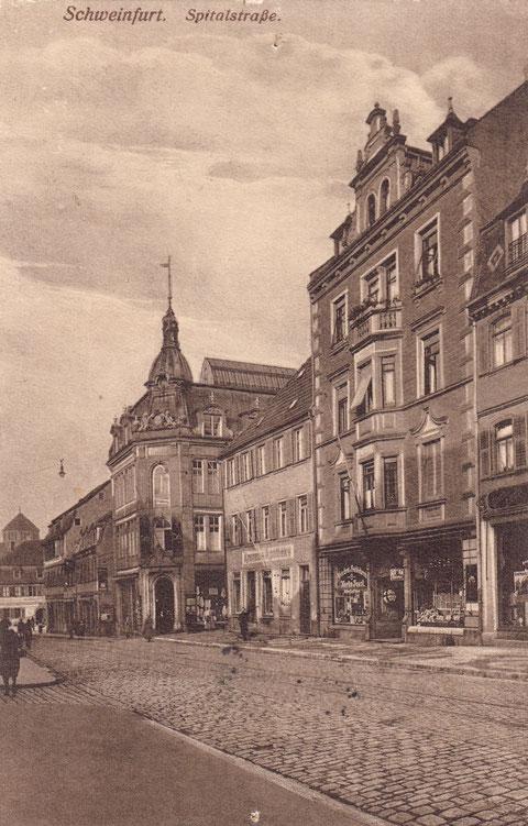 """ca. 1902 - 1908 - links von der Kronenapotheke das Kaufhaus """"Tietz"""""""