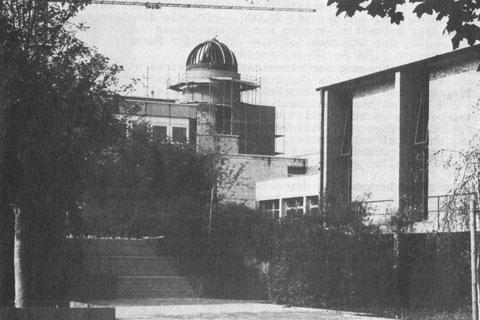 Bau der Sternwarte Ignaz-Schön-Str. 7 (Rathenau-Gymnasium) - Mitte der 1980er - Danke an Peter Hösel