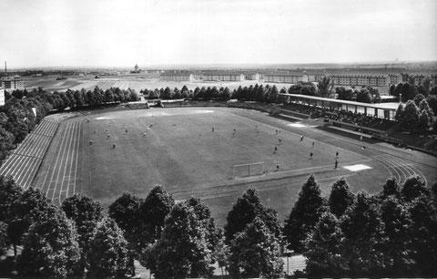 Das Willy-Sachs-Stadion in den 50er Jahre - Danke am Michael Kupfer