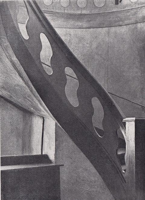 Keßlergasse 28 - Treppenhaus - Eichenholz - Vorkriegsaufnahme