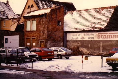 Hinterhof Rittergasse Schweinfurt 1980