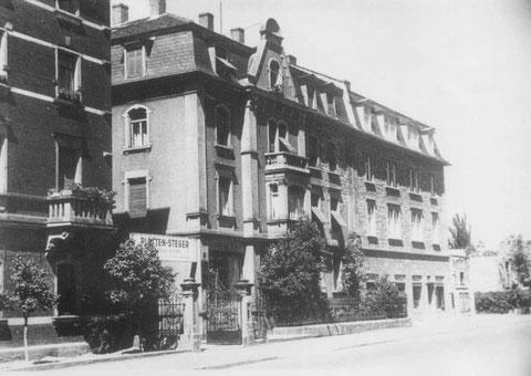 1929 - das Stammhaus der Fa. Platten Steger