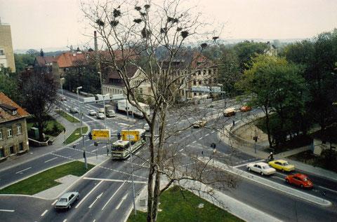 Kreuzung Marienbach/Mainbergerstr. Schweinfurt nach dem Umbau